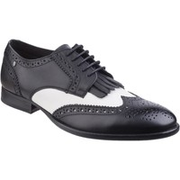 Shoes Men Derby Shoes Base London Bartley Waxy Waxy Black and White