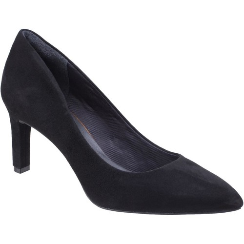 Shoes Women Heels Rockport CG7829 TOT MOT VALERIE PUMP Black Suede