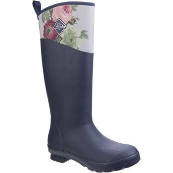 Shoes Women Wellington boots Muck Boots TWT-1RSE Tremont RHS Print Navy and Grey Roses