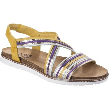 Shoes Women Sandals Riva Di Mare Dante Multi Leather Yellow and Blue and Silver and Purple