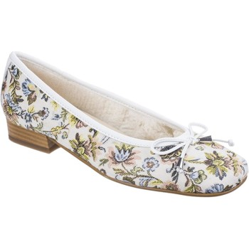 Shoes Women Flat shoes Riva Di Mare Bolsena Floral Fabric White
