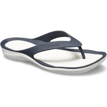 Shoes Women Flip flops Crocs 204974-462-W5 Swiftwater Flip Navy and White