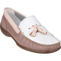 Shoes Women Boat shoes Cotswold Biddlestone White and Beige and Tan