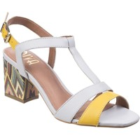 Shoes Women Sandals Riva Di Mare Palmira Leather Yellow and Grey
