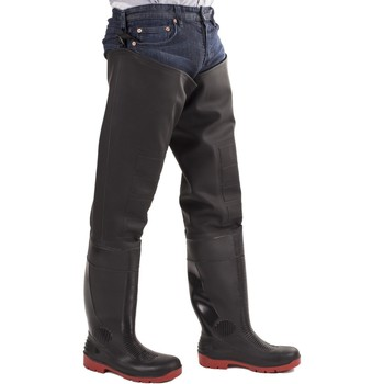 Shoes Men Wellington boots Amblers Safety Rhone Thigh Safety Wader Black and Red