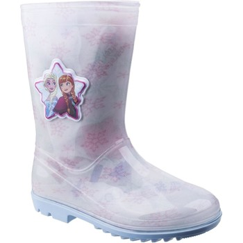Shoes Boy Wellington boots Leomil FZ005870 Elsa White and Pink