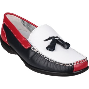 Shoes Women Boat shoes Cotswold Biddlestone White and Navy and Red