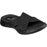 Shoes Women Mules Skechers 16259BBK3 On the GO 600 Glistening Black and Black
