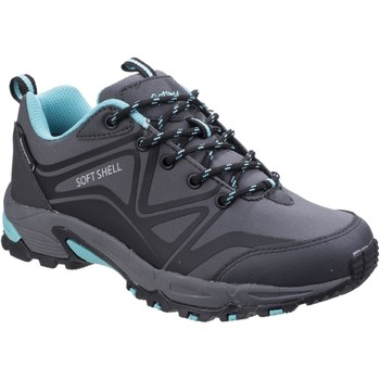 Shoes Women Walking shoes Cotswold Abbeydale Low Grey and Black and Aqua