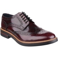 Shoes Men Derby Shoes Base London Woburn PI056532 Hi-Shine Bordo Hi Shine