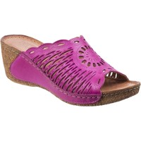 Shoes Women Mules Riva Di Mare Reggio Leather Fuchsia