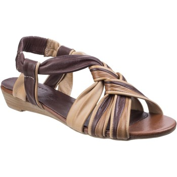 Shoes Women Sandals Riva Di Mare Cala Leather Brown