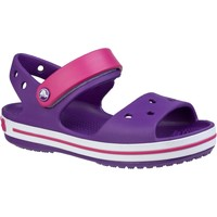 Shoes Children Outdoor sandals Crocs Crocband Violet Amethyst Paradise Pink