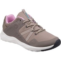 Shoes Women Low top trainers Cotswold Luckington Taupe and Pink and White