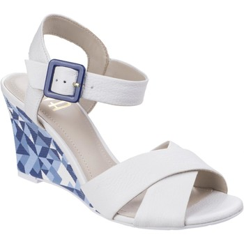 Shoes Women Sandals Riva Di Mare Emilia Leather White and Navy