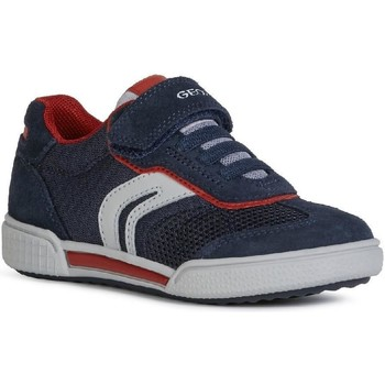 Shoes Boy Low top trainers Geox J02BCD-01422-C0735 J Poseido Boy D Navy and Red