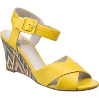 Shoes Women Sandals Riva Di Mare Emilia Leather Yellow and Brown