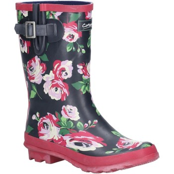 Shoes Women Wellington boots Cotswold Paxford Black and Flower