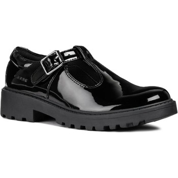 Shoes Girl Derby Shoes & Brogues Geox J8420E-HH-C9999-28 J Casey Girl Black