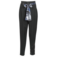 Clothing Women Wide leg / Harem trousers Desigual CHARLOTTE Black