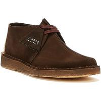 Shoes Men Mid boots Clarks Desert Trek Suede Mens Dark Brown Boots Brown