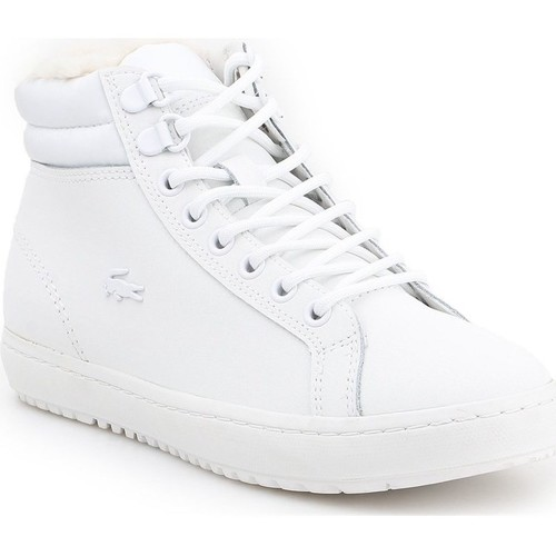 Shoes Women Hi top trainers Lacoste Straightset Thermo White