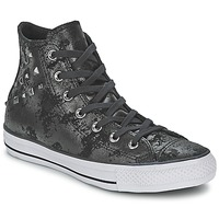 Shoes Women Hi top trainers Converse CHUCK TAYLOR ALL STAR HARDWARE Black / Silver