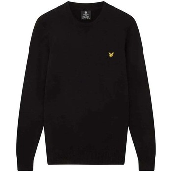Clothing Men Jumpers Lyle And Scott Vintage Crew Neck Cotton Merino Jumper black