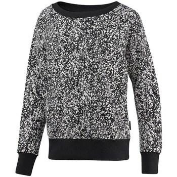 Clothing Women Sweaters Reebok Sport Crewneck Speckled Black