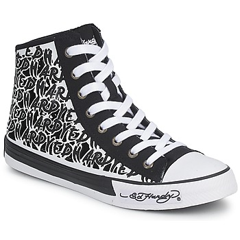 Shoes Women Hi top trainers Ed Hardy RESOUDRE Black / White