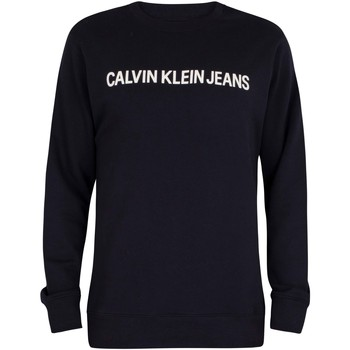 Clothing Men Jumpers Calvin Klein Jeans Core Institutional Sweatshirt blue