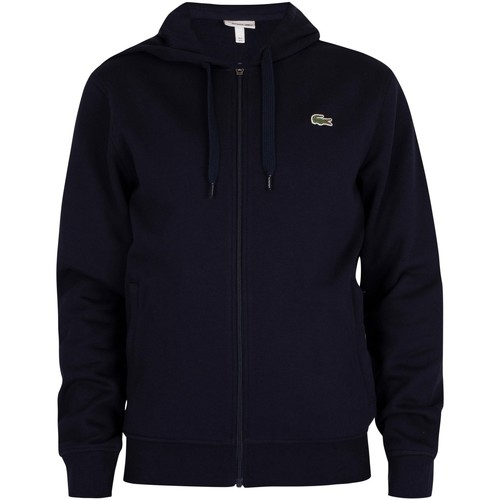 Clothing Men Sweaters Lacoste Sport Zip Hoodie blue
