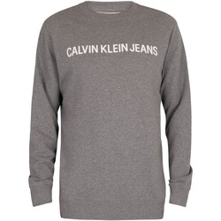 Clothing Men Jumpers Calvin Klein Jeans Core Institutional Sweatshirt grey