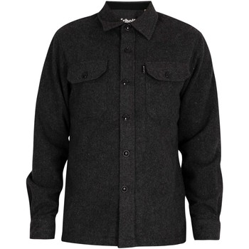 Clothing Men Long-sleeved shirts Schott Carl3 Chest Pockets Shirt black