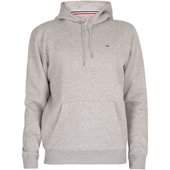 Clothing Men Sweaters Tommy Jeans Regular Fleece Pullover Hoodie grey