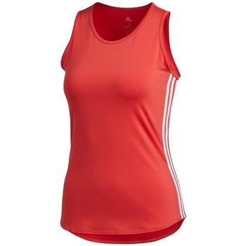 Clothing Women Tops / Sleeveless T-shirts adidas Originals Wmns 3STRIPES Tank Top Red