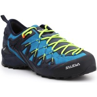 Shoes Men Walking shoes Salewa MS Wildfire Edge 61346-3988 blue, black, yellow