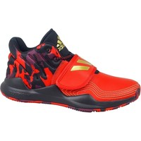 Shoes Children Hi top trainers adidas Originals Deep Threat J Graphite,Red