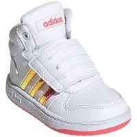 Shoes Children Hi top trainers adidas Originals Hoops Mid 20 I White, Red