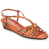 Shoes Women Sandals Amalfi by Rangoni NAMIBIAPRT Orange