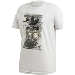 Clothing Men Short-sleeved t-shirts adidas Originals Camo Tongue Tee White