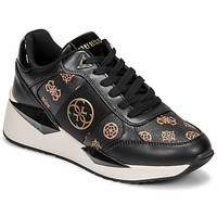 Shoes Women Low top trainers Guess TESHA Black