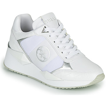 Shoes Women Low top trainers Guess TESHA White