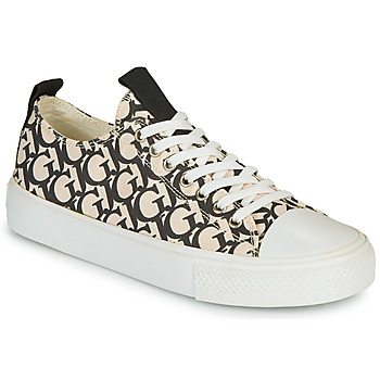 Shoes Women Low top trainers Guess EDERLA Beige / Black