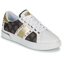 Shoes Women Low top trainers Guess RICENA White / Brown