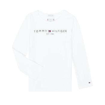 Clothing Girl Long sleeved tee-shirts Tommy Hilfiger KG0KG05247-YBR-J White