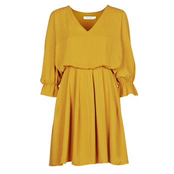 Clothing Women Short Dresses Naf Naf  Yellow
