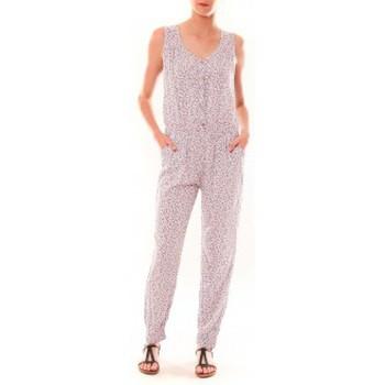 Clothing Women Jumpsuits / Dungarees Dress Code Combinaison Z073  Beige Beige