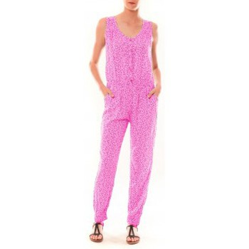 Clothing Women Jumpsuits / Dungarees Dress Code Combinaison Z073  Rose Pink