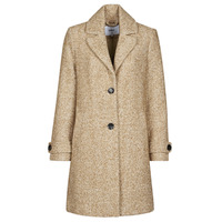 Clothing Women Coats Only ONLPENNY Camel / White
